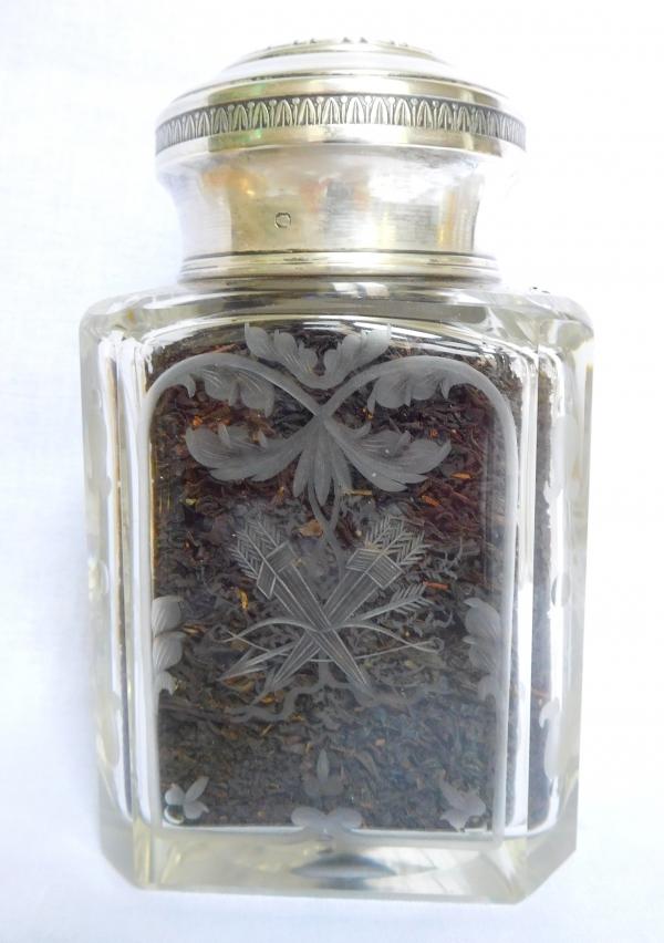 Baccarat Crystal Silver Vermeil Tea Box