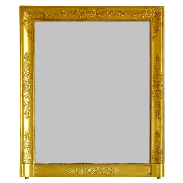 Empire gilt wood mirror, early 19th century, mercury glass - 80.5cm x 97cm