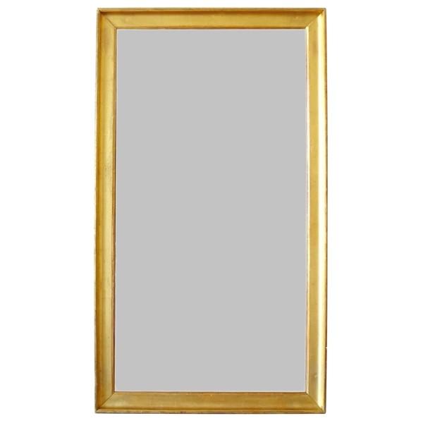 Miroir d'entre deux Empire Restauration - bois doré à la feuille d'or & glace au mercure - 79cm x 137cm