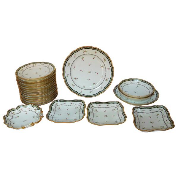Manufacture de Clignancourt Comte de Provence - service de table en porcelaine, époque Louis XVI