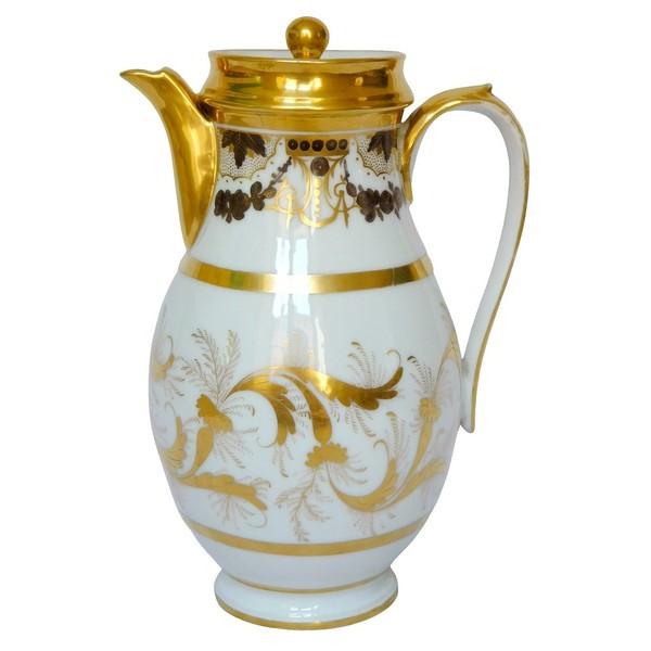 Verseuse / cafetière en porcelaine d'époque Louis XVI Directoire fin XVIIIe siècle