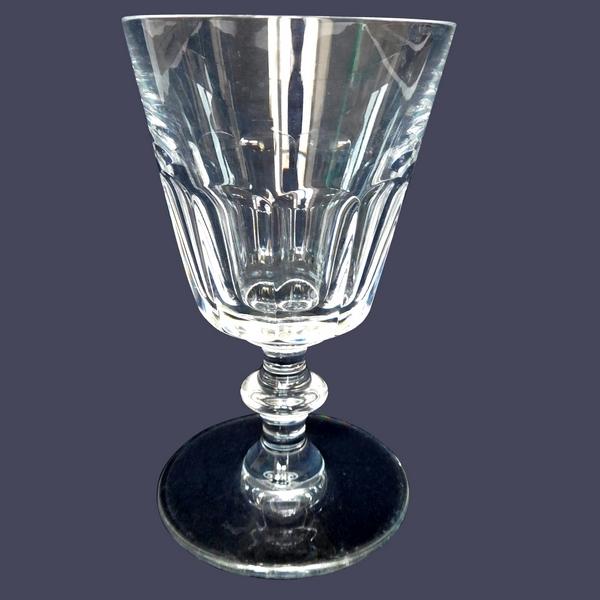 Verre à vin rouge en cristal de Saint Louis, modèle Caton - 12,8cm - signé
