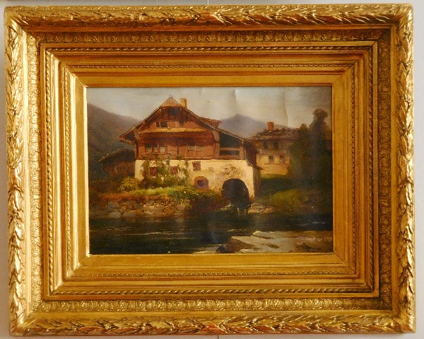 19th century French school : old watermill or chalet