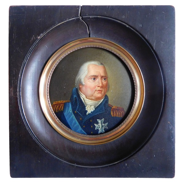 Louis XVIII King of France miniature portrait, early 19th century