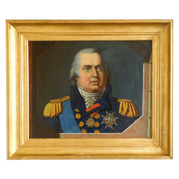 Portrait of Louis XVIII King of France and Navarre - Oil on canvas, Restoration period