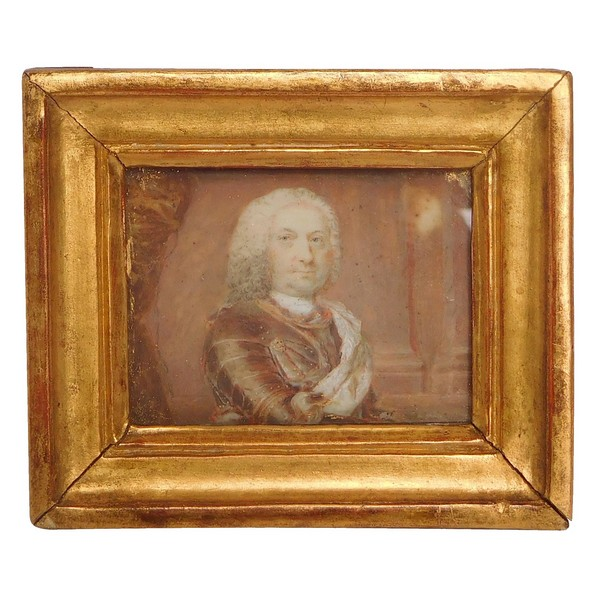 Portrait présumé de Stanislas Leszczynski, Roi de Pologne, miniature sur ivoire vers 1720