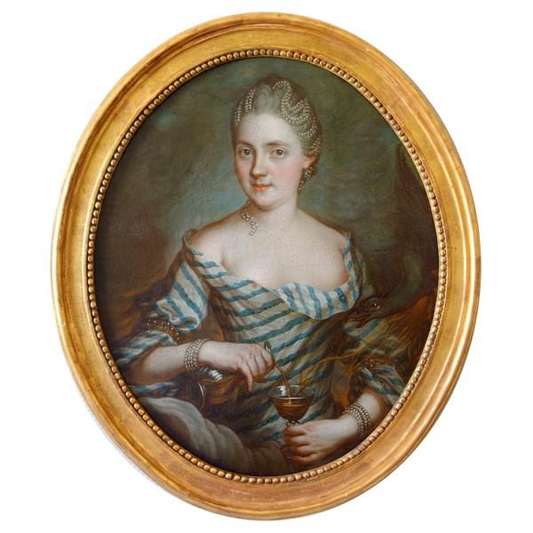 Ecole Française du XVIIIe siècle, portrait d'une sorcière ou empoisonneuse - ésotérique