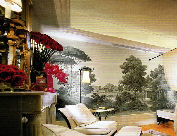 papier peint panoramique zuber jamais pos paysage italien s pia 250cm x 400cm. Black Bedroom Furniture Sets. Home Design Ideas