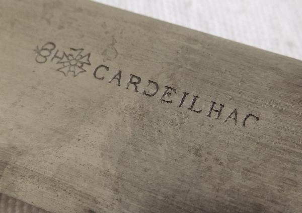 12 couteaux de table de style Louis XVI en ébène par Cardeilhac