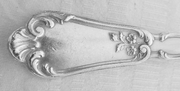 Hénin & Cie : ménagère en argent massif de style Louis XV, poinçon Minerve - 12 pièces