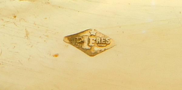 6 cuillères à moka de style Empire Restauration en vermeil, poinçon Minerve