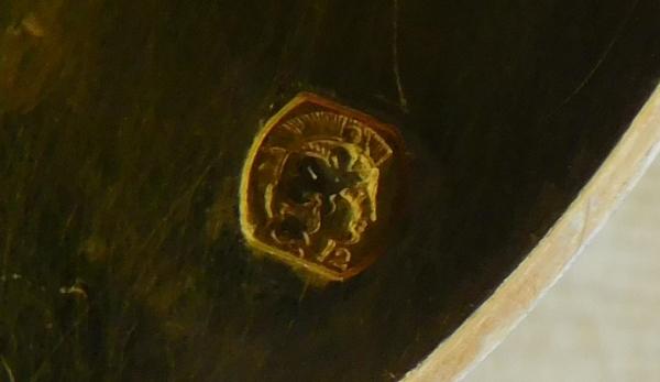 Série de 8 cuillères Rocaille d'époque Napoléon III en vermeil, poinçon Minerve