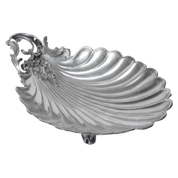 Corbeille à pain de style Rocaille en argent massif, poinçon Minerve, par Henri Lapeyre