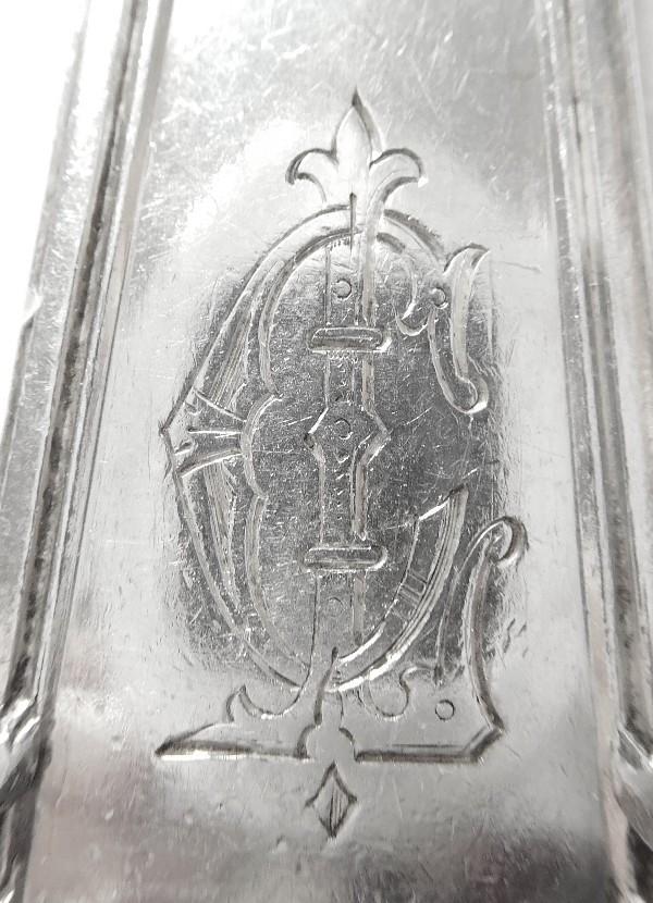 Couvert d'enfant de style Louis XIV en argent massif, poinçon Minerve, par henri Soufflot