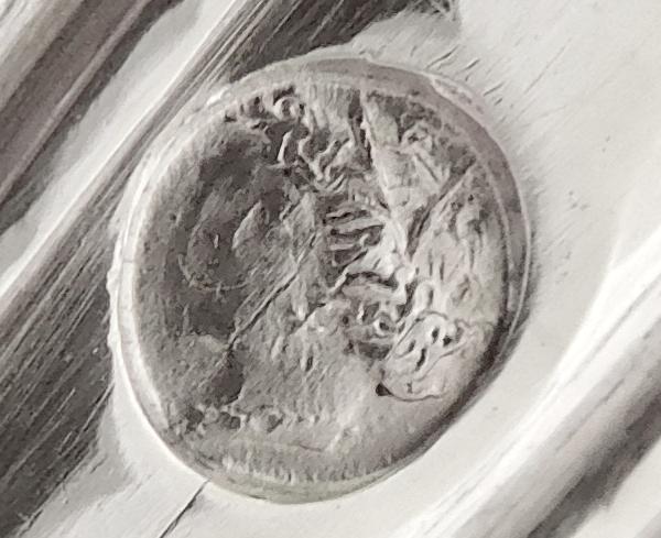 Cuillère à saupoudrer en argent massif d'époque Restauration, poinçon Vieillard