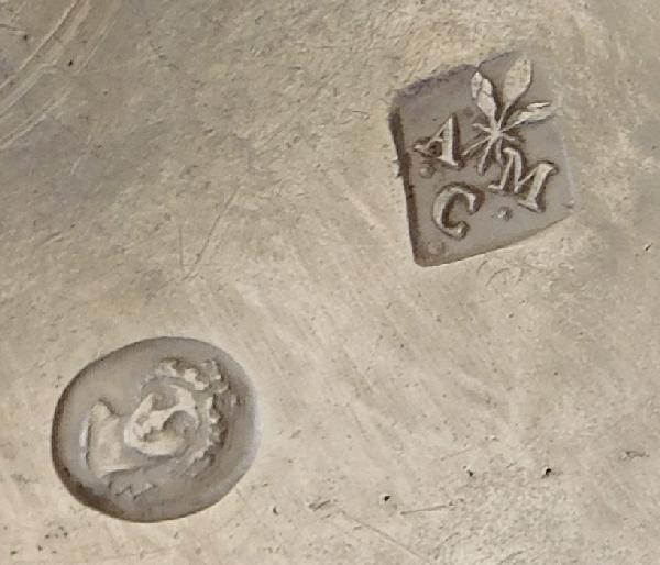 Sucrier / drageoir Empire en argent massif en athénienne Retour d'Egypte