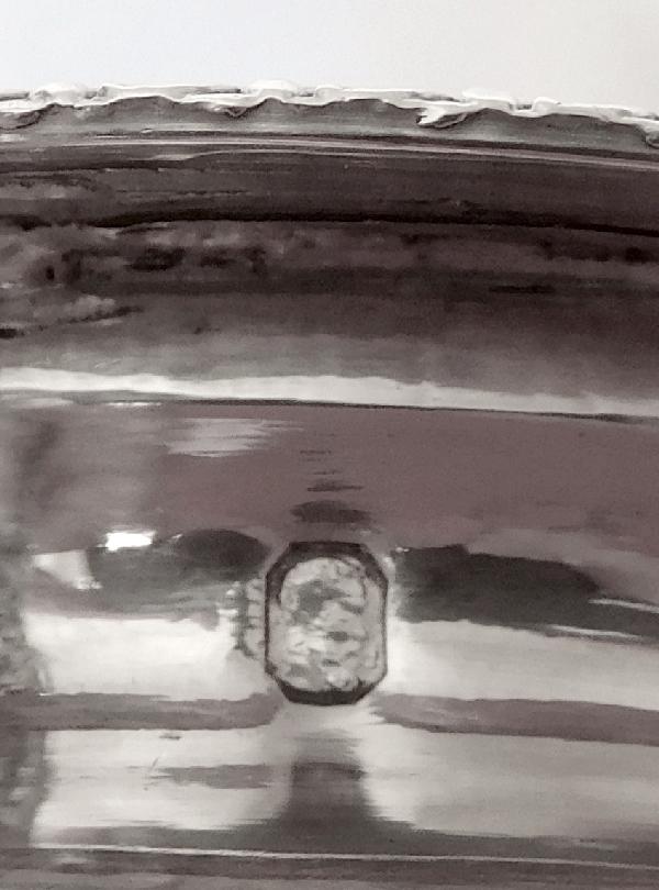 Sucrier / drageoir en argent massif d'époque Restauration, poinçon Vieillard