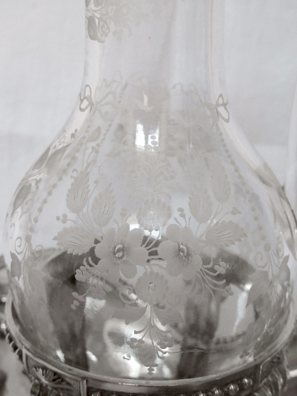 Huilier vinaigrier en argent massif d'époque Louis XVI - Paris, 1781 - poinçons Fermiers Généraux