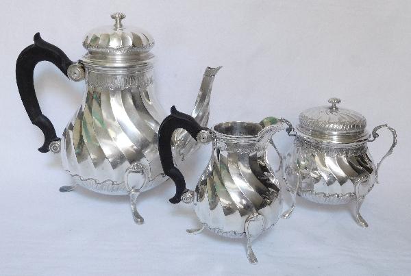 Pot à lait de style Louis XV en argent massif par Puiforcat, poinçon Minerve