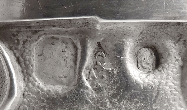 Rare rond de serviette d'époque Restauration à décor de cygne, poinçon Vieillard