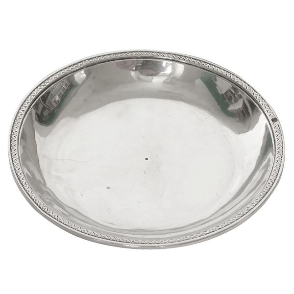 Dessous de verre / coupelle / soucoupe en argent massif, poinçon Vieillard