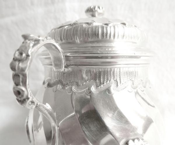 Tétard Frères : sucrier égoïste de style Louis XV Rocaille en argent massif, poinçon Minerve