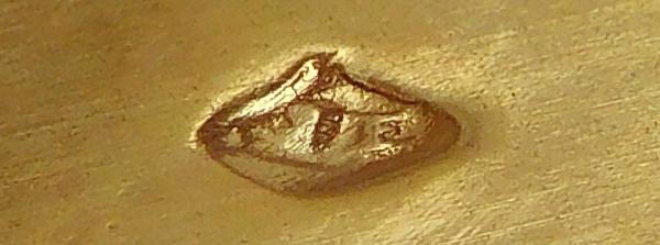Timbale en vermeil (argent massif) niellé, poinçon Minerve