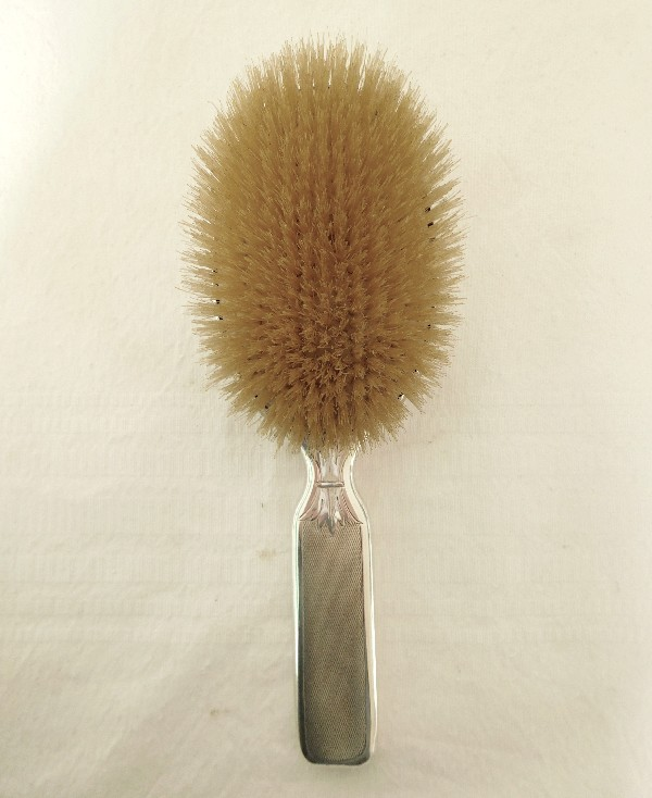 Brosse à cheveux en argent massif, couronne de Marquis, poinçon Minerve, par Doutre Roussel