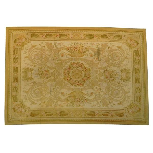 Grand tapis d'Aubusson d'époque Napoléon III - 420cm x 290cm