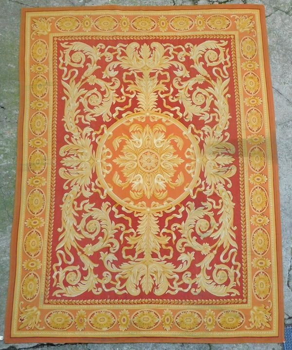 Tapis d'Aubusson de style Empire Restauration, époque XIXe - 350cm x 260cm