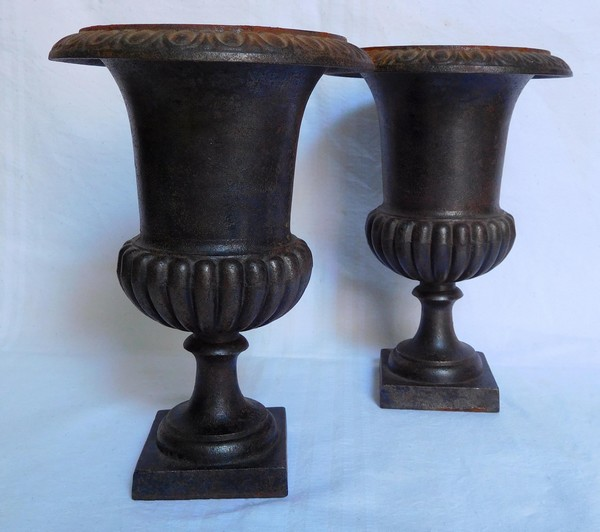 Vase Medicis En Fonte : paire de vases m dicis en fonte d 39 poque xixe si cle ~ Melissatoandfro.com Idées de Décoration