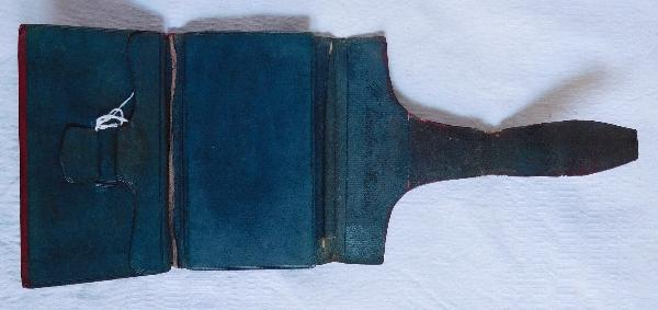 Portefeuille en maroquin rouge, époque Empire, époque début XIXe
