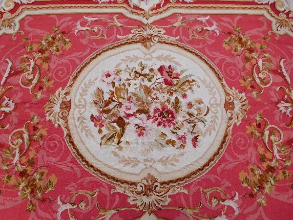 Tapis d'Aubusson de style Louis XVI, époque XIXe Napoléon III - 380cm x 270cm