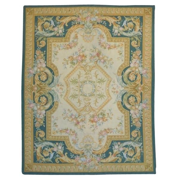 Tapis d'Aubusson de style néo-classique, époque XIXe - 366cm x 271cm