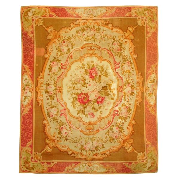 Grand tapis d'Aubusson de style Louis XV, époque XIXe Napoléon III - 340cm x 250cm