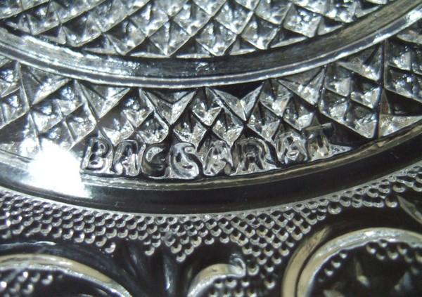 Assiette en cristal de Baccarat, modèle Arabesques