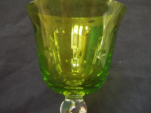 verre vin du rhin roemer en cristal de st louis mod le bubbles vert olive chartreuse neuf. Black Bedroom Furniture Sets. Home Design Ideas