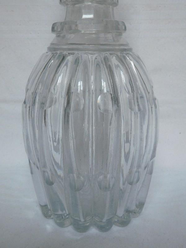 Carafe à vin flacon à whisky en cristal, Le Creusot ou Baccarat vers 1830