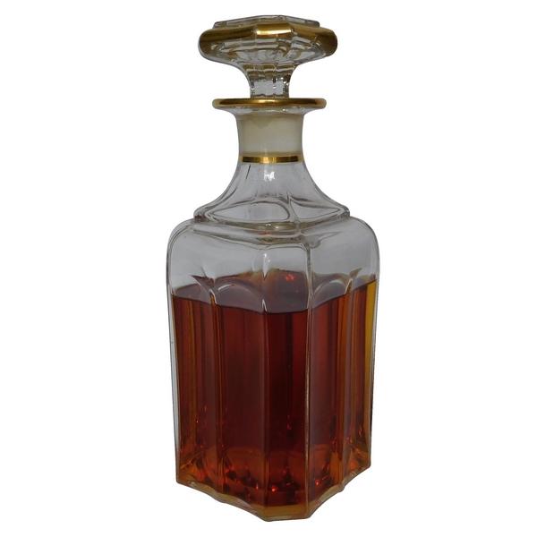 Carafe à whisky en cristal de Baccarat rehaussée à l'or fin, époque milieu XIXe