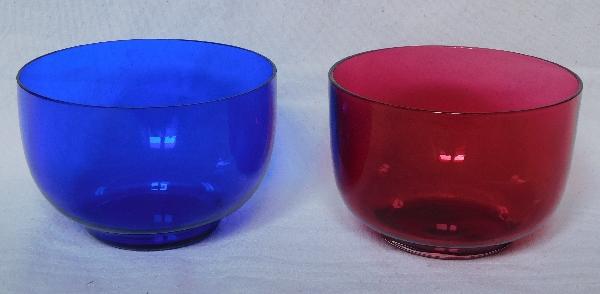 Bol, ramequin en cristal de Baccarat bleu cobalt