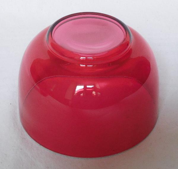 Bol, ramequin en cristal de Baccarat rose