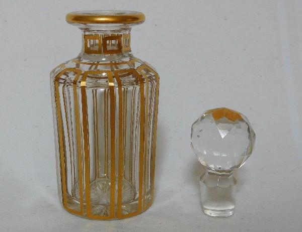 Petit Flacon En Cristal De Baccarat Modele Cannelures