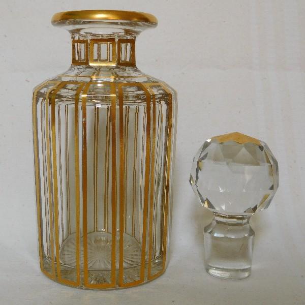 Grand Flacon En Cristal De Baccarat Modele Cannelures