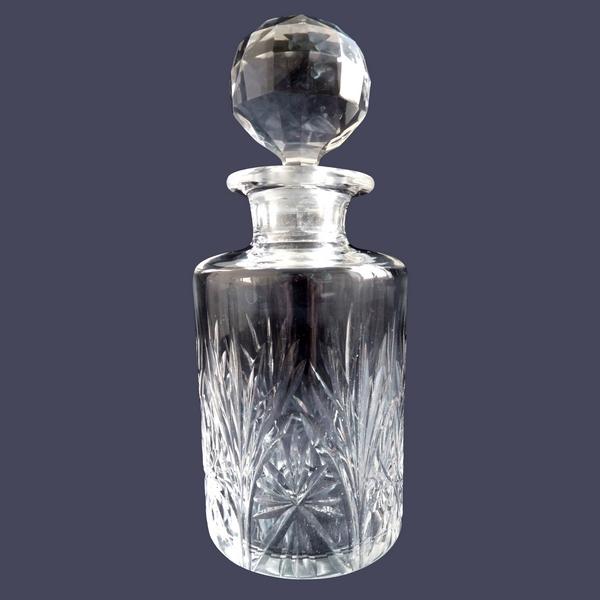 Flacon à parfum en cristal de Saint Louis, modèle Sapho (cristal taillé) - 13,5cm