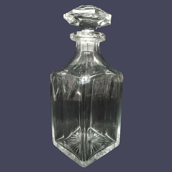 Flacon à whisky ou à liqueur en cristal de Baccarat