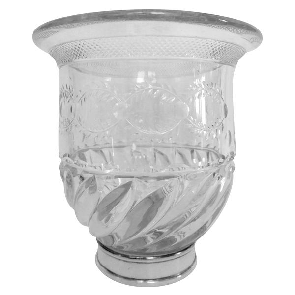Vase en cristal de Baccarat et bronze argenté, modèle du Musée de Baccarat