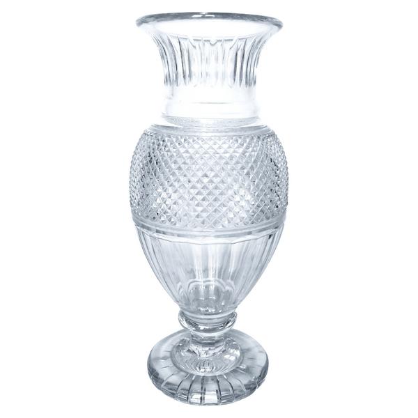 Vase Médicis en cristal de Baccarat, modèle Eurydice - signé - 35cm