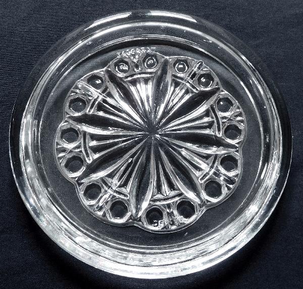 Paire de dessous de bouteilles en cristal de Baccarat - signés