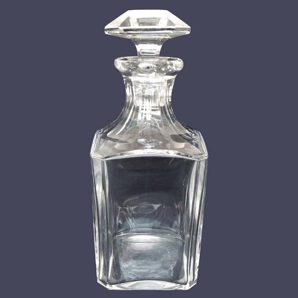Carafe à whisky en cristal de Baccarat, modèle Perfection - signée