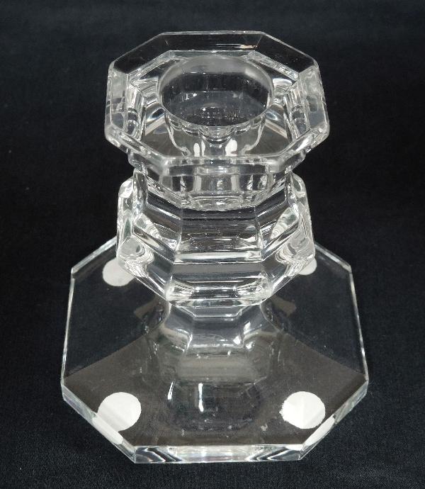 Paire de bougeoirs en cristal de Baccarat, modèle Harcourt - signés